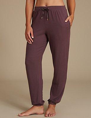 Schlafanzughose mit Bündchensaum, VIOLETT, catlanding