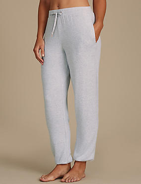 Cuffed Hem Pyjama Bottoms, GREY MIX, catlanding