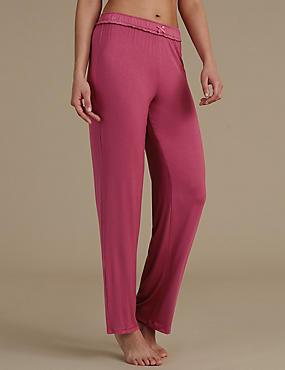 Pyjamabroek met rechte pijp, MAGENTA, catlanding