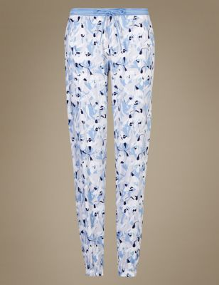 """Пижамные брюки """"Подснежники"""" с манжетами от Marks & Spencer"""