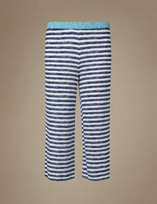 Укороченные пижамные брюки в морскую полоску M&S Collection T371283P