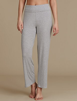 Straight Leg Pyjama Bottoms, GREY, catlanding
