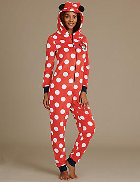 Minnie Mouse Hooded Onesie, RED MIX, catlanding