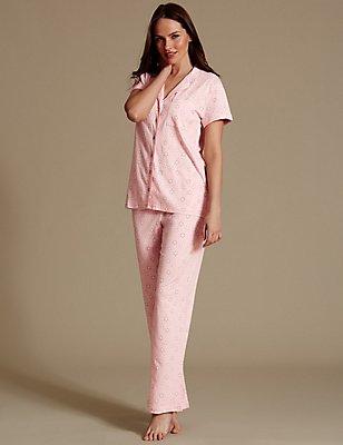 Pyjama à imprimé marguerites, doté de la technologie Cool Comfort™, ROSE ASSORTI, catlanding