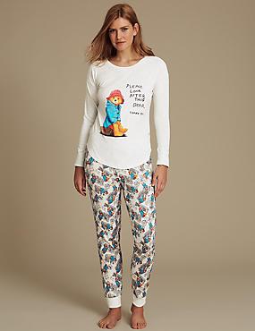Paddington™ Cotton Rich Pyjamas, RED MIX, catlanding