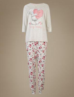 Пижама Tatty teddy с принтованными брюками на манжетах T371653J
