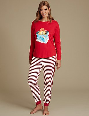 Paddington™ Pure Cotton Pyjamas , RED MIX, catlanding