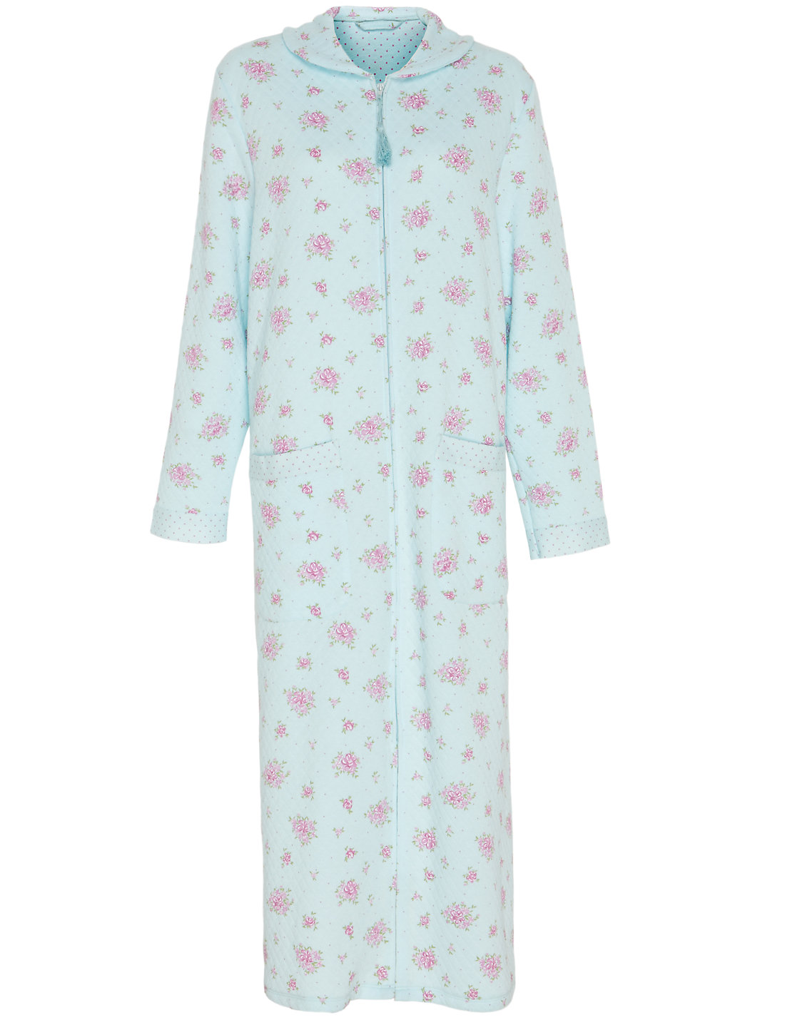 Floral & Spotted Quilted Dressing Gown | M&S : quilted dressing gown - Adamdwight.com