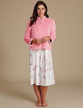 Shimmersoft™ Long Sleeve Bed Jacket, PINK, catlanding