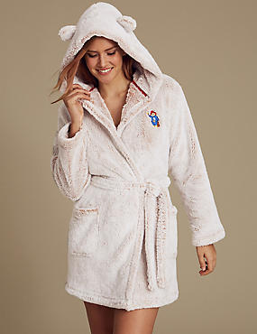 Paddington™ Tie Front Dressing Gown, OATMEAL MIX, catlanding