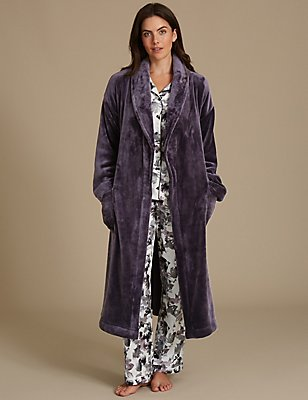 Shimmersoft™ Dressing Gown, PURPLE, catlanding