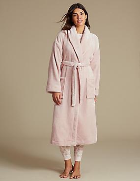 Robe de chambre effet brillant, ROSE TENDRE, catlanding