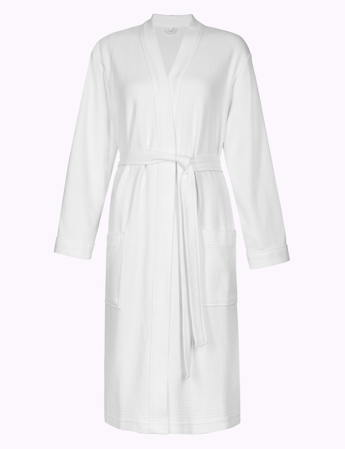 Pure Cotton Waffle Dressing Gown | M