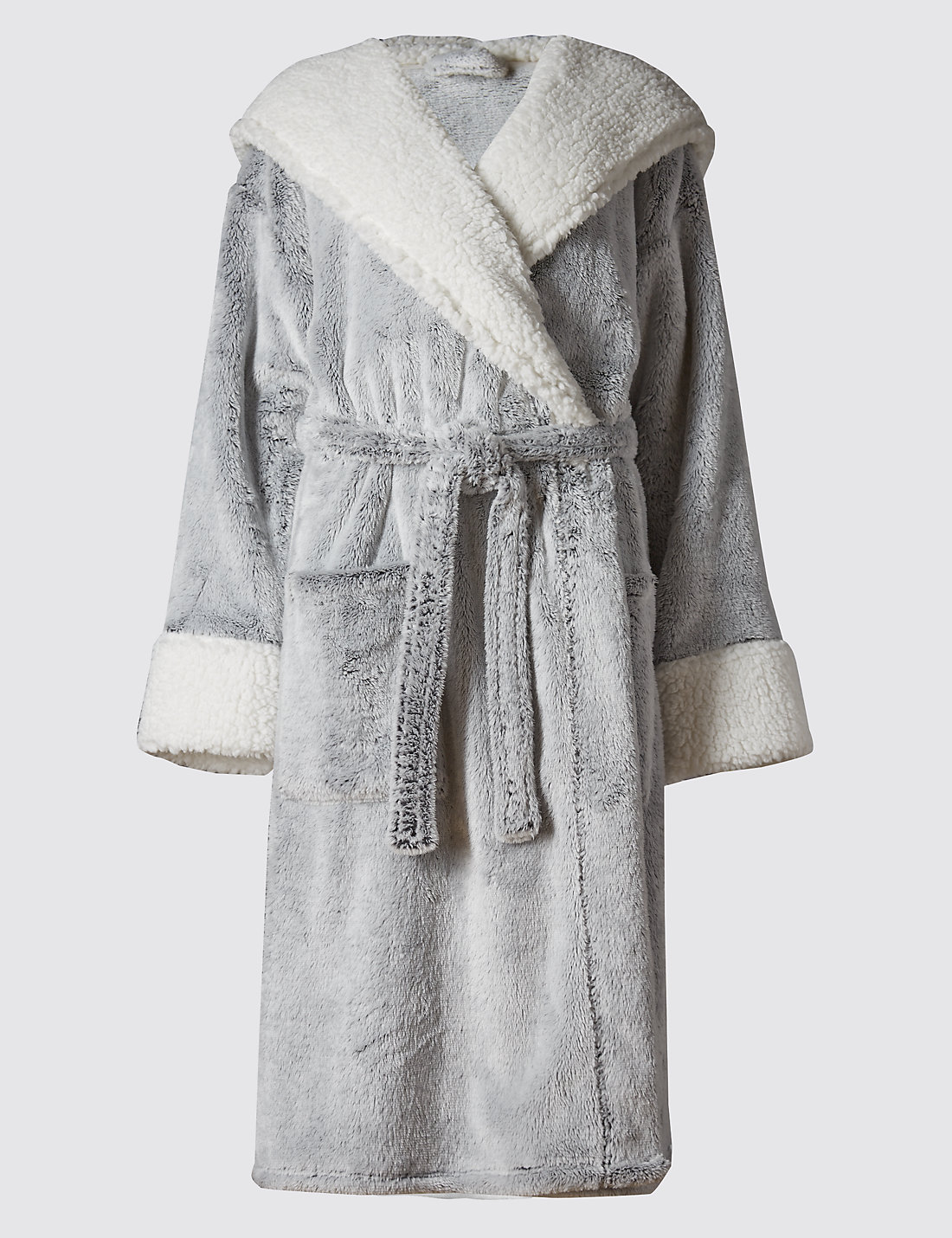 Luxury Hooded Shimmer Dressing Gown | M
