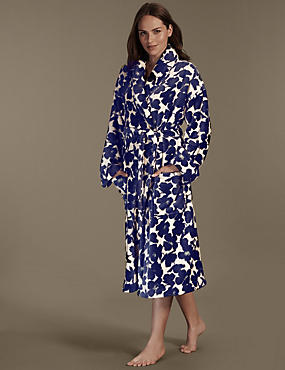 Supersoft Graphic Floral Dressing Gown