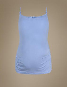 Secret Support™ Maternity Camisole Top, BLUE, catlanding