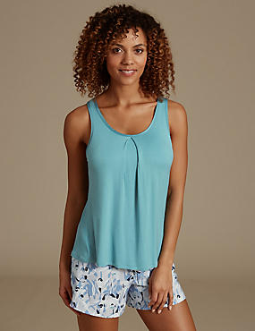 Strappy Camisole Top, GREEN, catlanding