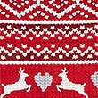 Fairisle Print Long Sleeve Pyjama Top, RED MIX, swatch