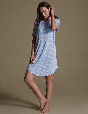 Spotted Minishirt, BLUE MIX, catlanding