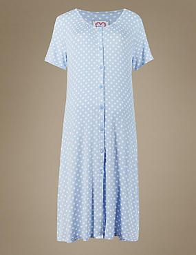 Maternity Spotted Minishirt, BLUE MIX, catlanding