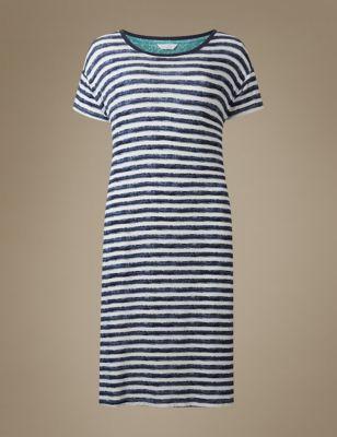 Ночная рубашка в морскую полоску M&S Collection T373629M