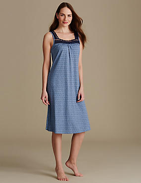 Modal Blend Nightdress with Cool Comfort™, NAVY MIX, catlanding
