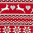 Fairisle Print Short Sleeve Nightdress, RED MIX, swatch
