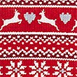 Fairisle Print Short Sleeve Nightdress, RED MIX, swatch