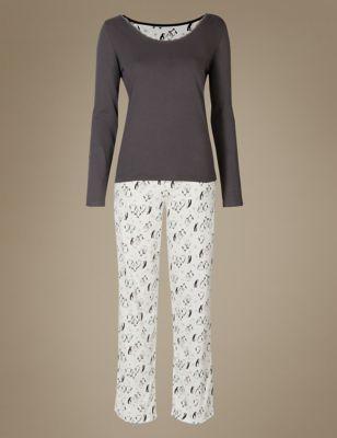 "Пижама ""Пингвин"" из чистого хлопка M&S Collection T374112F"
