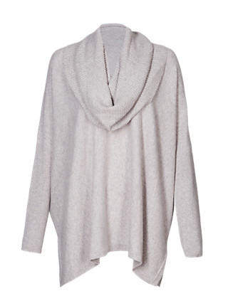 Luxurious Pure Cashmere Jumper with Detachable Snood Clothing