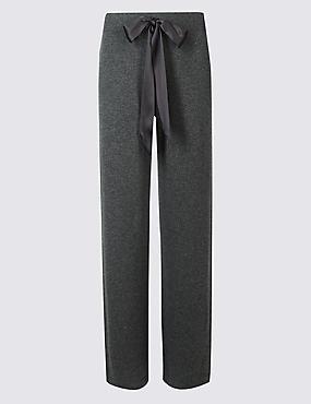 Bas de pyjama coupe droite 100% cachemire, CHARBON, catlanding