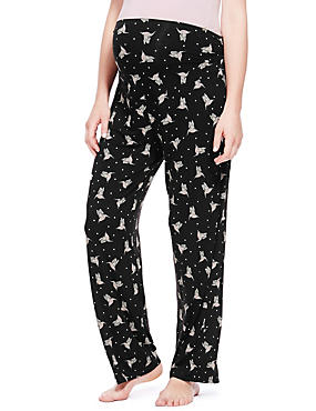 Maternity Bird Print Pyjama Bottoms