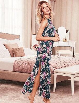 Floral Maxi Nightdress, GREEN MIX, catlanding