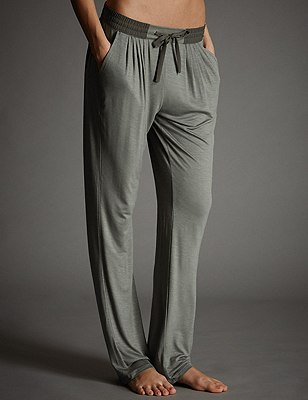 Tapered Leg Pyjama Bottoms, KHAKI, catlanding