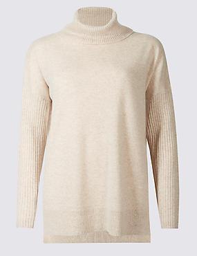 Haut de pyjama 100% cachemire à col cheminée, CHAMPAGNE, catlanding