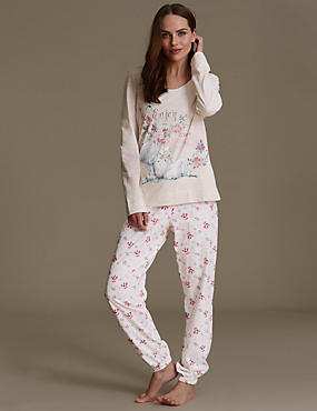 Enjoy The Little Things Slogan Pyjamas