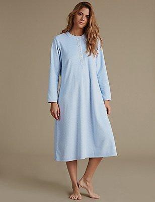 Geometric Print Nightdress, BLUE MIX, catlanding