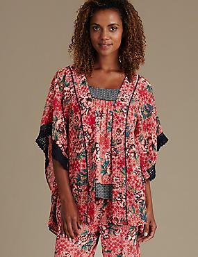 Origins Floral Kimono Wrap, ORANGE MIX, catlanding