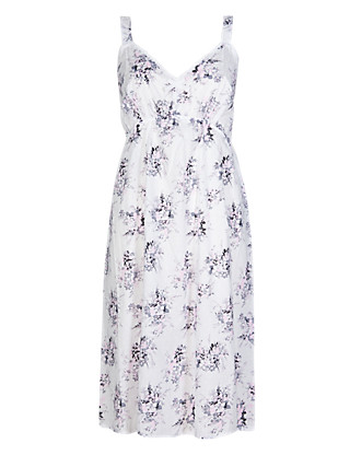 Pure Cotton Dobby Floral Chemise with Cool Comfort™ Technology Clothing