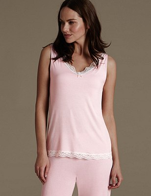 Vest Top with Shelf Support, PINK, catlanding