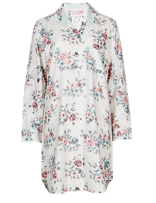 Pure Cotton Floral Nightshirt Clothing