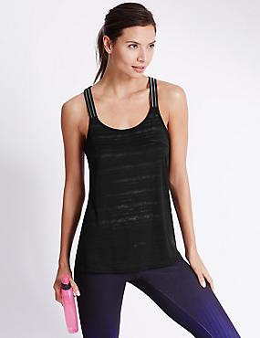 Elastic Strap Vest, BLACK, catlanding