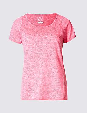 Performance – T-shirt à motif marbré, ROSE INDIEN, catlanding
