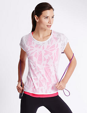 Double Layer T-Shirt, PINK MIX, catlanding