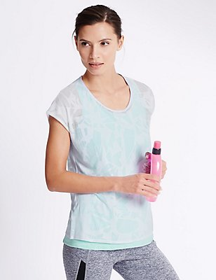 Double Layer Tee, MINT MIX, catlanding