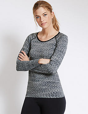 Seamfree Running Top, GREY, catlanding