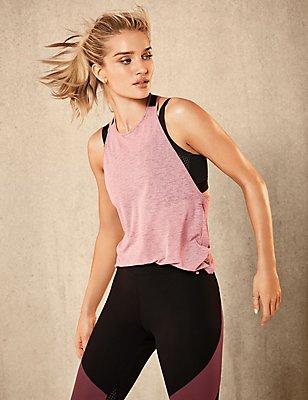 Active Elastic Back Vest, PINK, catlanding