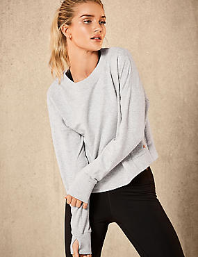 Active Soft Sweatshirt, GREY, catlanding