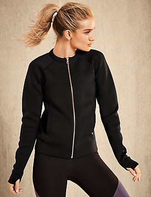 Active Bomber Jacket, BLACK, catlanding
