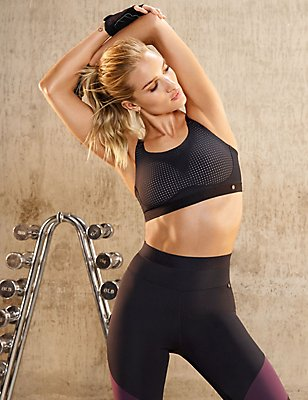 Active Panelled Leggings, BLACK MIX, catlanding